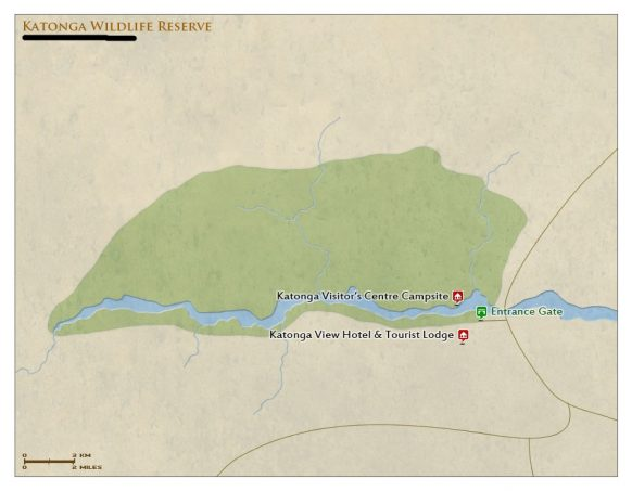 Katonga Wildlife Reserve Map