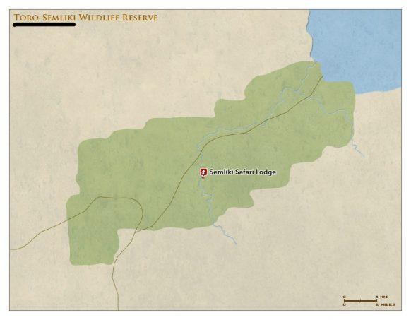 Toro Semliki wildlife reserve map