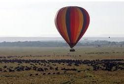 hot air baloon in Queen Elizabeth