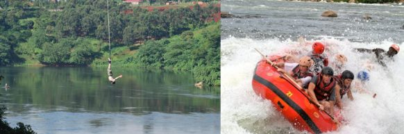bungee jumping white water rafting uganda safari
