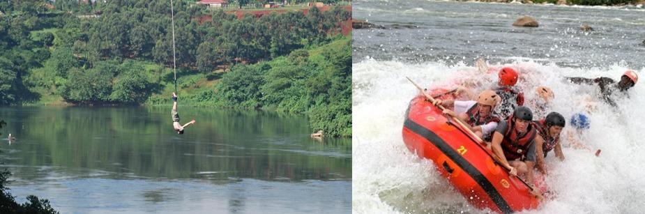 bungee jumping white water rafting uganda