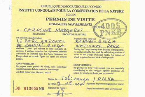 Congo gorilla trekking permit