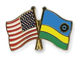 usa and rwanda national flag