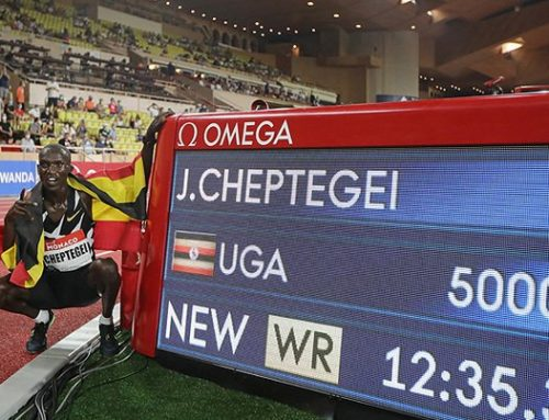 Cheptegei Sets Men's 5,000m World Record at Monaco