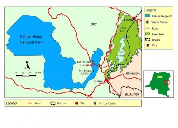 Kahuzi Biega National Park Map