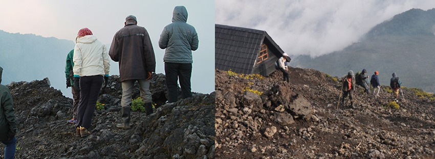 Nyiragongo Volcano descent- congo tours