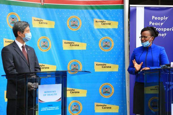 Korean Embassy Donates COVID-19 Kits to Kenya