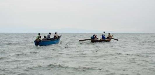 boat cruise at Lake Albert uganda