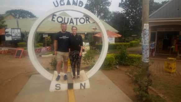 Uganda Equator crossing Kayabwe SAFARI