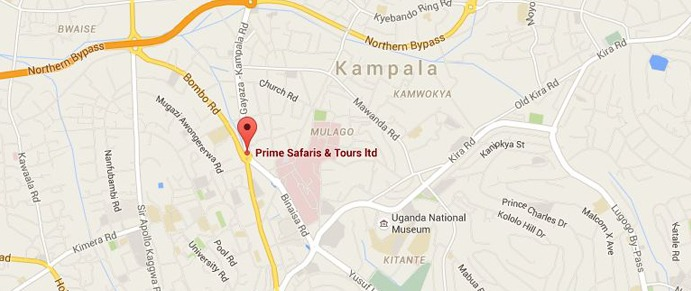 prime safaris uganda location