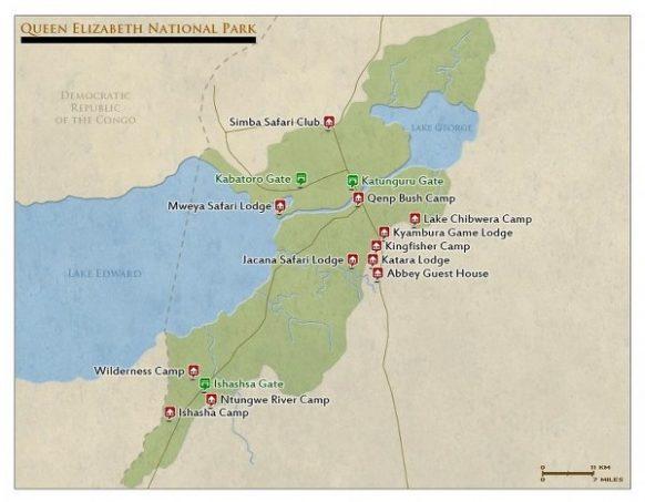 queen elizabeth national park map