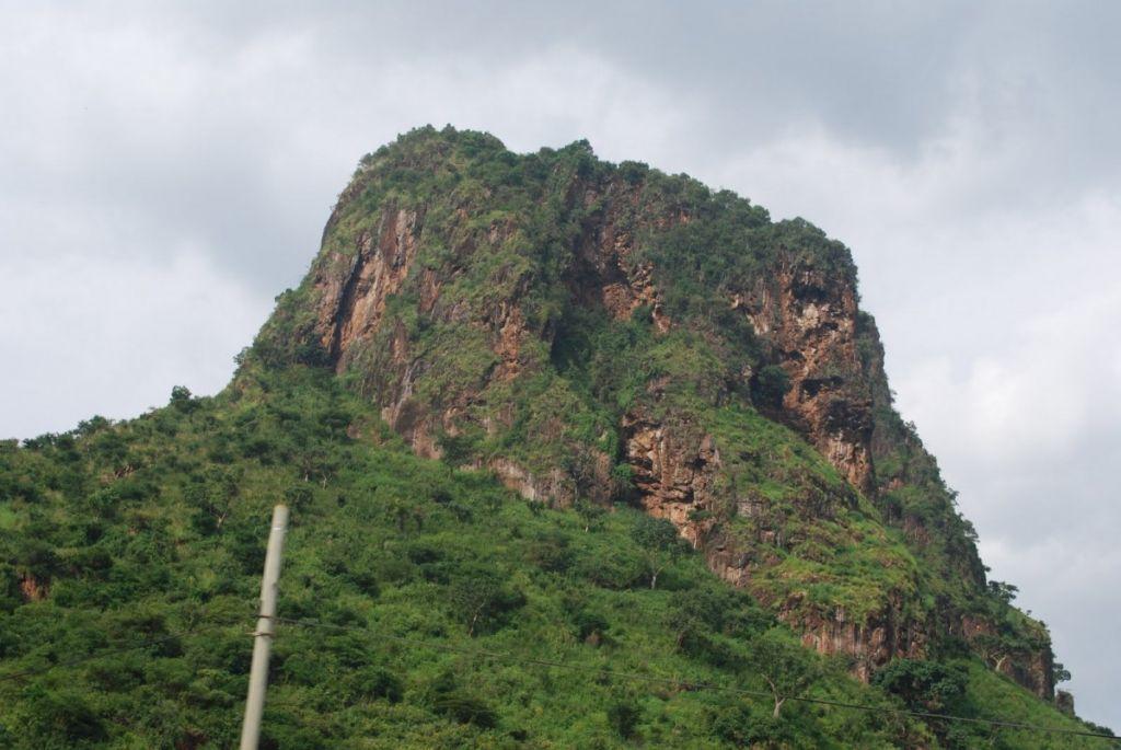 Tororo rock sedimentary outcrop